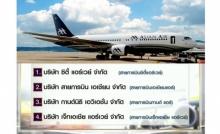 กพท.แจงพบ 4 สายการบินหนี้ท่วม ห้ามบินแล้ว 2 สายการบิน