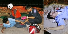 นทท.อินเดียฉุนโชเฟอร์สองแถว ใช้ไม้หน้าสามรุมตีจนขาหัก