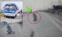 อุทาหรณ์! จักรยานยนต์ จู่ๆเปลี่ยนเลนปาดกะทันหัน รถบัสชนทับร่างดับสยอง