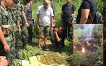 เจอยาเสพติด ซุกป่ารอบค่ายมวย ส.แจ้งอรุณ ย่านสายไหม บางส่วนถูกเผาทิ้ง