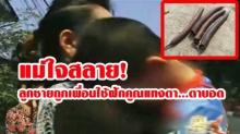 ใจแม่สลาย!! เด็ก 7 ขวบถูกเพื่อนใช้ฝักคูณแทง ตาบอด ต้องควักลูกตาทิ้ง