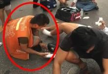 น่ากลัว!!  วินมอไซค์ทำทีช่วยคนประสบอุบัติเหตุ ก่อนฉกทรัพย์หนี(ชมภาพ)