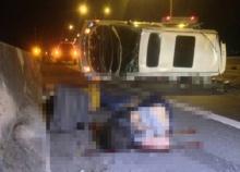 สลด!รถตู้คณะแพทย์จอดเสียถูก6ล้อชนดับ4เจ็บ1