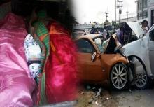 สลดสุดเศร้า!!งานศพ3พ่อแม่และลูกน้อย16วัน จาเหตุรถหรูชนกระบะ!!