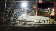 รถทัวร์ชนสยอง!! ร่างนิรนามกระโจนใส่ ตายหลายศพ