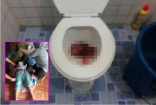 สาวท้องหกเดือนเข้าห้องน้ำ เบ่งพรวดลูกไหลลงชักโครกดับสยอง!!