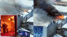 คืบหน้า ไฟไหม้ห้างเมเจอร์ปิ่นเกล้า อาคารใกล้ทรุด สั่งอพยพจนท.ดับเพลิง