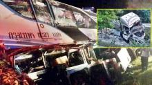 โชเฟอร์-ผู้โดยสารดับคาซาก 2 ศพรถทัวร์สายใต้เสยท้ายพ่วง