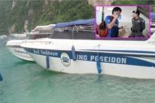 หนังท่องเที่ยวหนุ่มจีน!? โดนใบพัดสปีดโบ๊ทฟัน หลังลงเล่นน้ำที่เกาะพีพี