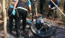 สยองฆ่าหั่นศพแยก 2 ท่อน ยัดกระเป๋าเดินทางเผานั่งยางกลางป่า