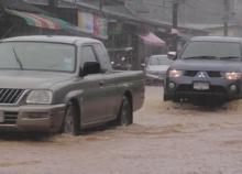 ฝนถล่มพัทยาน้ำท่วมถ.เลียบหาดหนักสุด