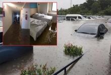 ห่าฝนซัด!! เมืองสกลนครจมบาดาล สาวขอความช่วยเหลือติดในโรงแรมออกไม่ได้