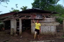 ไทรโยคเจอพายุฤดูร้อนบ้านเสียหายกว่า 50 หลัง