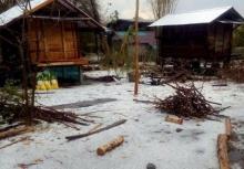 พายุฝน-ลูกเห็บถล่มบุรีรัมย์เสียหายจำนวนมาก