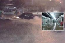 ฝนถล่มหนักทั่วเมืองโคราชกว่า 3 ชม. น้ำท่วมถนน-ห้างดัง จนท.