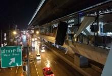 ภาพชุดฝนถล่มกทม.-ปริมณฑล ทำหลังคาสถานีรถไฟฟ้าสายสีม่วง