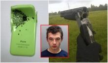 ไอโฟนช่วยชีวิต!! หนุ่มโดนจ่อยิงหน้าอก รอดตายหวุดหวิด
