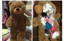 เห็นแล้วยี้!! สาวโพสต์ภาพน้องหมีร้านปาโป่ง...ถูกยัดไส้มาด้วยสิ่งนี้!!
