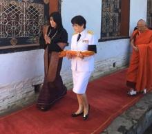 เชิญผ้าพระกฐินพระราชทานในหลวง รัชกาลที่ 9 ทอดถวายวัดในภูฏาน