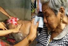 น้ำตาไหล!!วอนช่วย พ่อ-ลูก พิการนอนแช่ขี้ แม่ 88 คลานป้อนข้าว