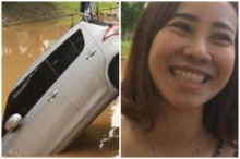 สาวเจ้าของรถบอกไม่ตกใจแต่เขิน หลังเก๋งไหลพุ่งลงคูเมืองเชียงใหม่