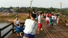 นอภ.สังขละบุรี สั่งตรวจสอบสะพานมอญยืนยันไม่ชำรุด