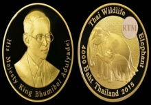ผลิตเหรียญที่ระลึกช้างไทยขายทั่วโลก ราคาสูงสุดเฉียดแสน