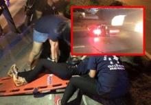 คนที่รักร้ายที่สุด!!หนุ่มพากิ๊กซิ่งรถหนีชนมอไซค์แฟนสาวล้มไม่เหลียวแล!!