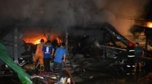 วอดวาย...ไฟไหม้ ตลาดโรงเกลือ วอด 2 คูหา เสียหายกว่าล้าน