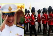 สมพระเกียรติ!ทหารกองเกียรติยศพร้อมรับเสด็จฯ เพื่ออัญเชิญขึ้นทรงราชย์