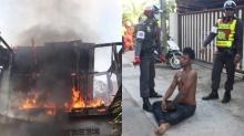 แตกตื่นทั้งชุมชน หลังหนุ่มช่างสักลาย คลั่งจัดแถมทำท่าชักกระตุก จุดไฟเผาบ้านตนเอง