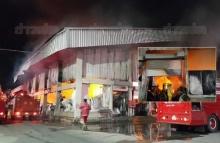 ไฟไหม้โกดังโรงงานแปรรูปเนื้อปลารายใหญ่บางกระเจ้า วอดไม่ต่ำกว่า 10 ล้าน!!