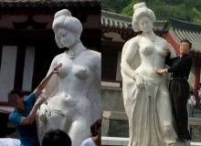 จีนวอนนักท่องเที่ยวหนุ่มๆ อย่าทำอนาจารรูปปั้นหยางกุ้ยเฟย