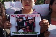 ชาวพม่าประท้วงคดีเกาะเต่า หน้าสถานทูตไทยที่กรุงย่างกุ้ง