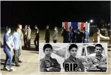คลิปสุดเศร้า กองทัพอากาศทำพิธีรับศพ นักบิน-ช่างเครื่อง ฮ.ตกเขาชะเมา