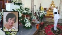 ในหลวง พระราชทานพวงมาลา หญิงเสียชีวิตขณะทำดอกไม้จันทน์ถวาย ร.9