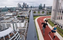ลู่วิ่งลอยฟ้ากลางกรุงลอนดอน สูดอากาศบริสุทธิ์ท่ามกลางวิว 360 องศา