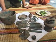 ฮือฮา!! พบวัตถุโบราณฝังดินที่หนองคาย  แจ้งกรมศิลป์ฯ พิสูจน์