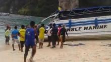 สปีดโบ๊ทชนกันกลางทะเลเกาะพีพี นักท่องเที่ยวเจ็บ 2