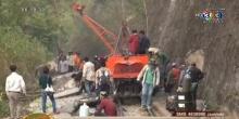 หินยักษ์ 15 ตัน ถล่มทับทางรถไฟสายมรณะ