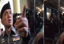 นี่คือคำรับสารภาพของหนุ่มชุดลายพราง ตบสาวบนรถเมล์