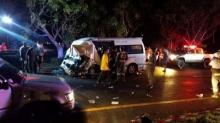 สลด! รถกระบะพุ่งชนรถตู้โดยสาร นครนายก ดับคาที่ 4 ศพ