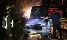 แบตรถยนต์ระเบิด ไฟลุกท่วม-หวิดลามไหม้บ้าน กู้ภัยช่วยดับไฟเจ็บ 1 ราย