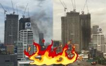 ด่วน!!! เกิดเหตุเพลิงไหม้ ด้านหลังคอนโดที่กำลังก่อสร้าง ใกล้ห้าแยกลาดพร้าว!!