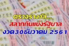 ตรวจผล สลากกินแบ่งรัฐบาล งวด 30 ธันวาคม 2561