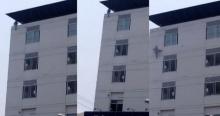 คลิประทึก! คนไข้ ดิ่งตึกโรงพยาบาล วินมอเตอร์ไซค์รุดช่วยแต่ไม่ทัน