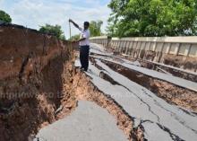 ปทุมฯน้ำประปาไหลแล้วถนนทรุดอีก-ชัยภูมิแล้งจัดใน40ปี