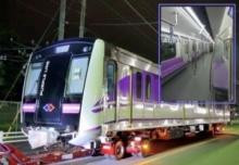 แอบส่อง!!! รถไฟฟ้าสายสีม่วง คันใหม่ไฉไล ก่อนถึงไทย 16 ก.ย.นี้