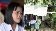 สาวน้อยยอดกตัญญู ดูแลพ่อพิการทุกวัน พักอาศัยในซากสิบล้อ!