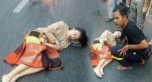 กราบใจพี่วิน!! วินใจหล่อ ถอดเสื้อกัก ให้สาวเกาหลี ถูกแท็กซี่ชนเจ็บ นอนโป๊กลางถนน